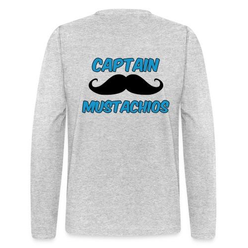 Captain Mustachios Men's Long Sleeve - Men's Long Sleeve T-Shirt by Next Level