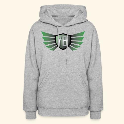 YBshield Green w/ wings  Women - Women's Hoodie
