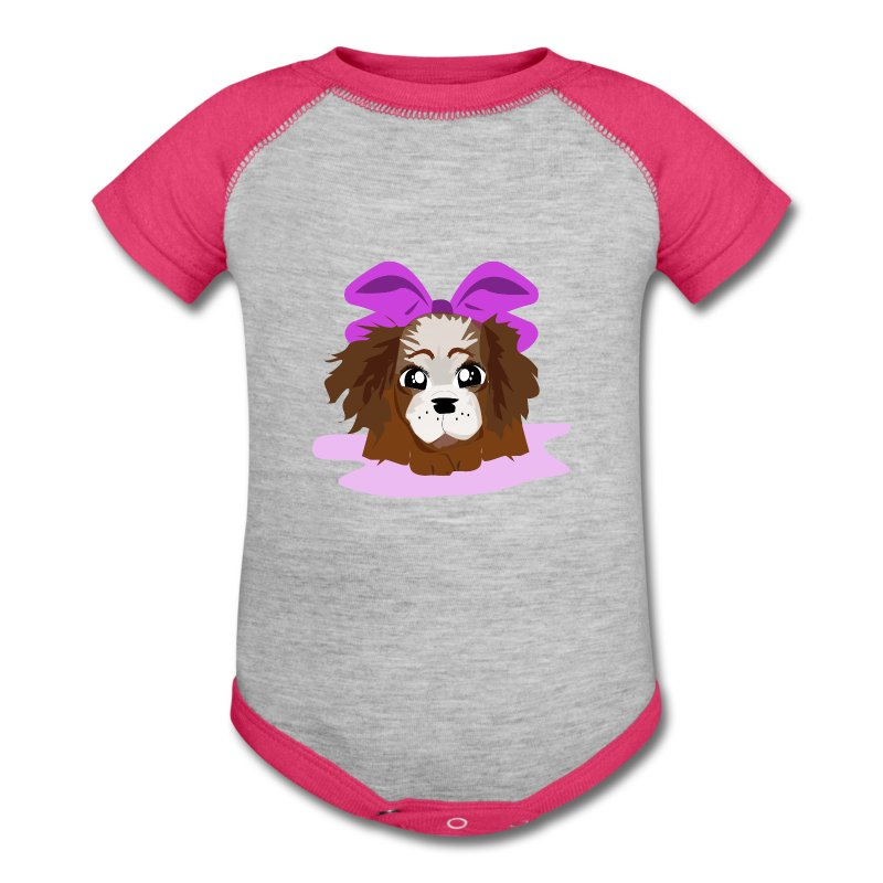 Puppy Pink Baby Contrast One Piece Spreadshirt