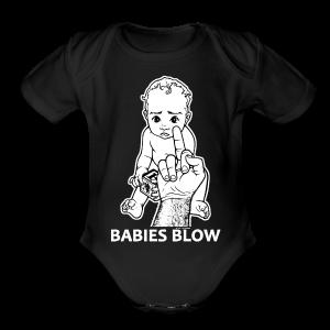 Babies Blow (babies) - Short Sleeve Baby Bodysuit