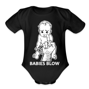 Babies Blow (babies) - Short Sleeve Baby Bodysuit