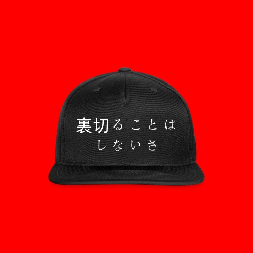 Japanese Text Hat - Snap-back Baseball Cap