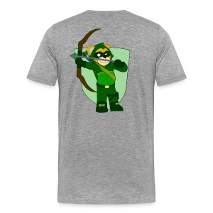 Ollie's Arrow Bow/Arrow Patch - Men's Premium T-Shirt