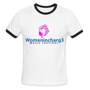 Men Womenincharg3 Music Festival t-shirt - Men's Ringer T-Shirt