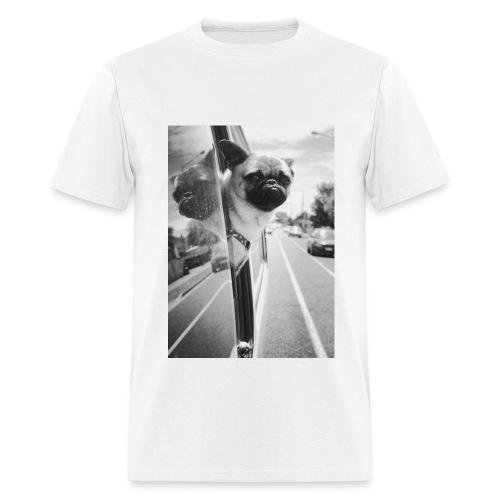 Pug riding with his minion, men's t-shirt - Men's T-Shirt