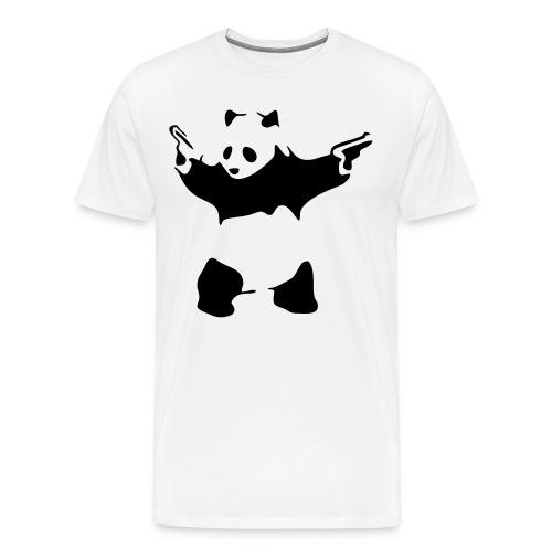 Panda With Guns - Men's Premium T-Shirt