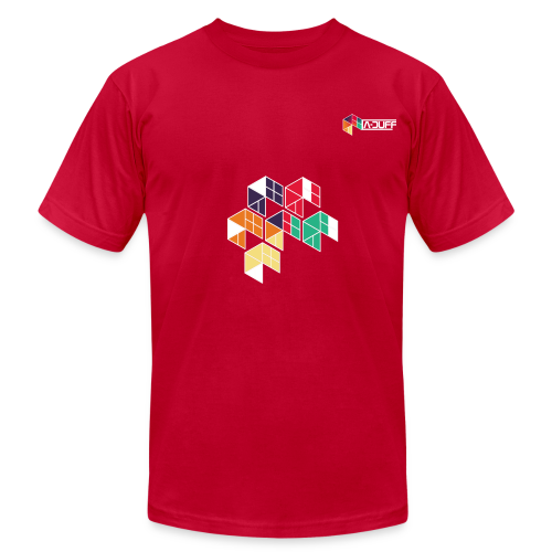 A-DUFF Dual Logo T-Shirt (Men) - Men's Fine Jersey T-Shirt