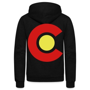 Colorado - Unisex Fleece Zip Hoodie by American Apparel