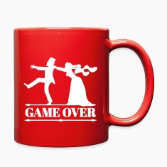 game over bride groom bachelor bachelorette party  Mugs & Drinkware