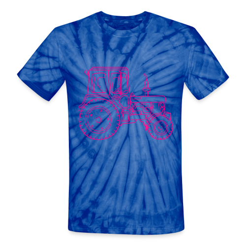 Tractor - Unisex Tie Dye T-Shirt