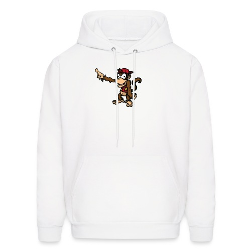 Diddy Kong pointing at an unknown object with his hat on backwards HOODIE - Men's Hoodie