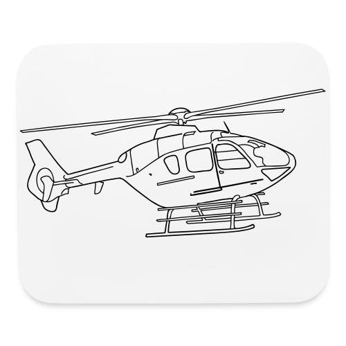 Helicopter - Mouse pad Horizontal