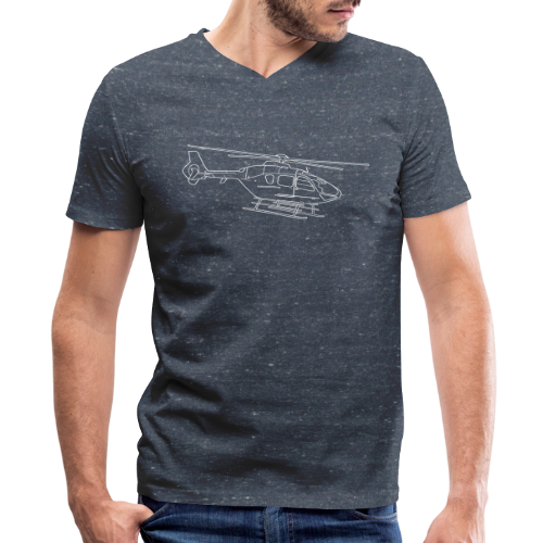Helicopter - Men's V-Neck T-Shirt by Canvas