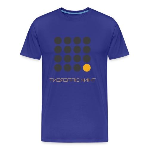 Think Different Grey Yellow - Men's Premium T-Shirt