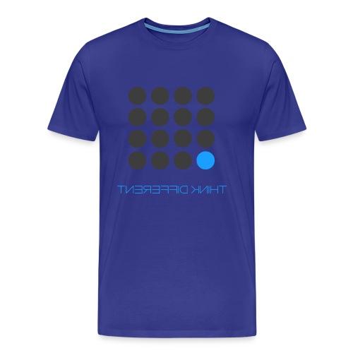 Think Different Grey Blue - Men's Premium T-Shirt