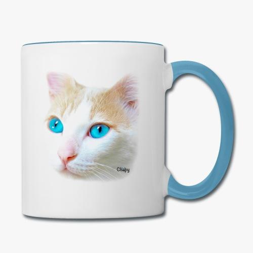 Contrast Coffee Mug with Pink Nose Design by Chapy - Contrast Coffee Mug