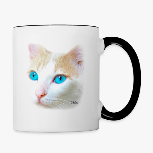 Contrast Coffee Mug with Pink Nose Design by Chapy - Contrast Coffee Mug