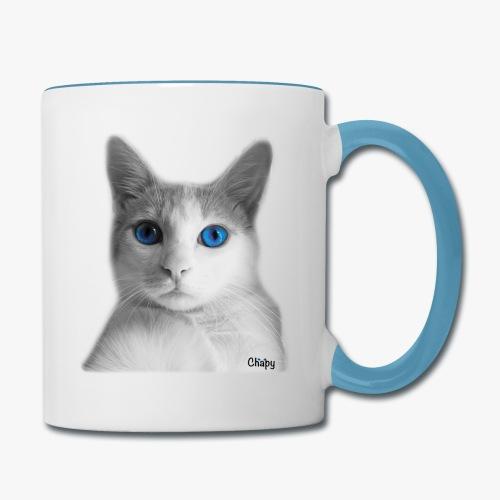 Contrast Coffee Mug with Selfie Design by Chapy - Contrast Coffee Mug