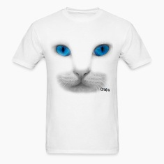 Men's T-Shirt with Blue Eyes Design by Chapy