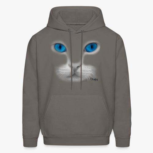 Men's Hoodie with Blue Eyes Design by Chapy - Men's Hoodie