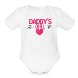 Daddy's Girl Valentine   - Short Sleeve Baby Bodysuit
