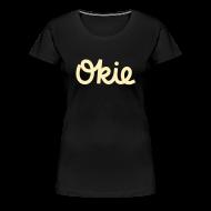 Women's T-Shirts ~ Women's Premium T-Shirt ~ Okie Script