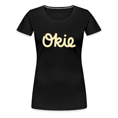 Okie Script - Women's Premium T-Shirt