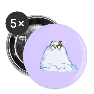 Snowcat — Friday Cat №40 - Large Buttons