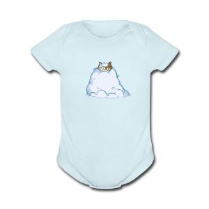 Snowcat — Friday Cat №40 - Short Sleeve Baby Bodysuit