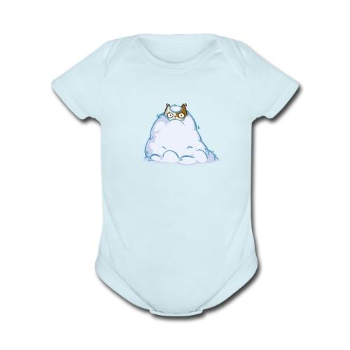 Snowcat — Friday Cat №40 - Organic Short Sleeve Baby Bodysuit