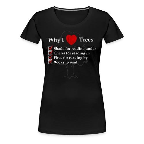 Reader Tree Love - Women's Premium T-Shirt