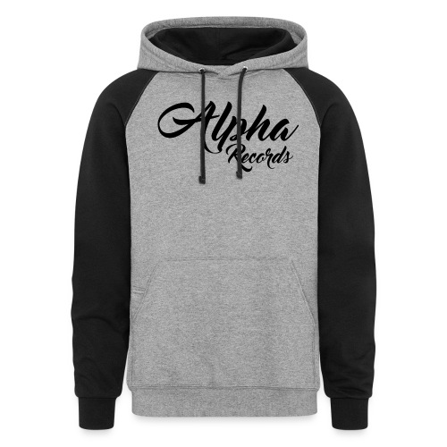 Alpha Records Pullover Hoodie W/Pocket - Colorblock Hoodie