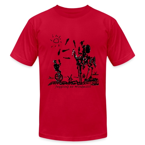 Juggling at Windmills T-Shirt (American Apparel) - Men's  Jersey T-Shirt