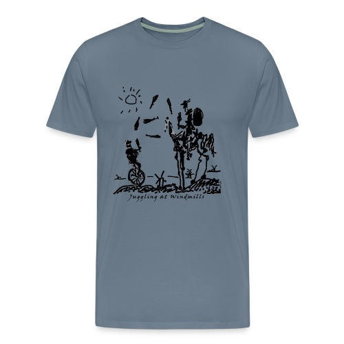 Juggling at Windmills T-Shirt (Spreadshirt Brand) - Men's Premium T-Shirt