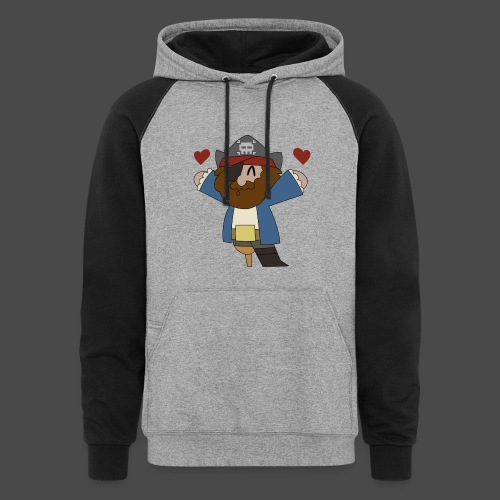 Pirate Love Two Tone Hoodie - Colorblock Hoodie