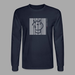 Vertical Stripe Long Sleve Logo - Men's Long Sleeve T-Shirt