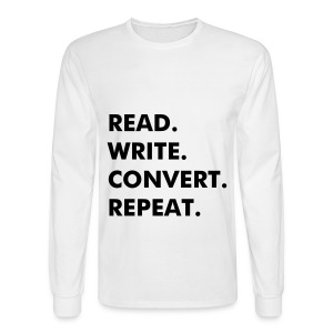 Copywriter Schedule - Men's Long Sleeve T-Shirt