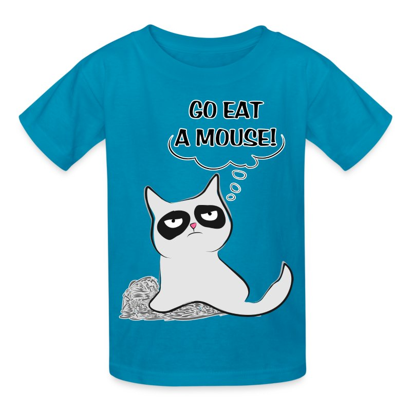 MAD CAT - Go Eat A Mouse - Kids' T-Shirt