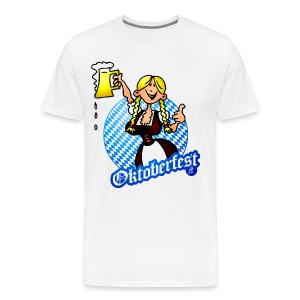 Oktoberfest - girl in a dirndl  - Men's Premium T-Shirt
