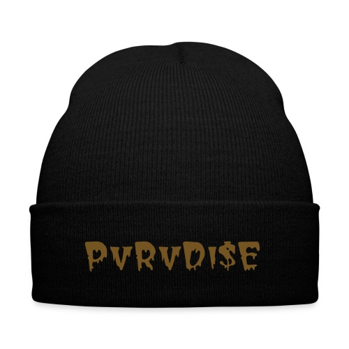 Golden - Knit Cap with Cuff Print