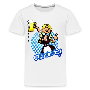 Oktoberfest - girl in a dirndl  - Kids' Premium T-Shirt