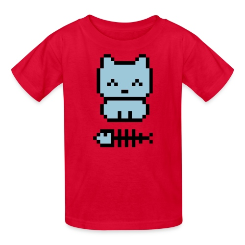 pixel cat kids - Kids' T-Shirt