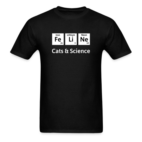 Cats and Science unisex - Men's T-Shirt