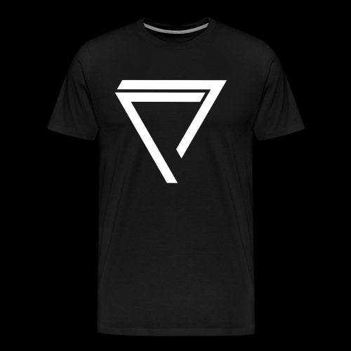AKO WHITE TRIANGLE w/ SLEEVE  (2 Logo) [MENS] - Men's Premium T-Shirt