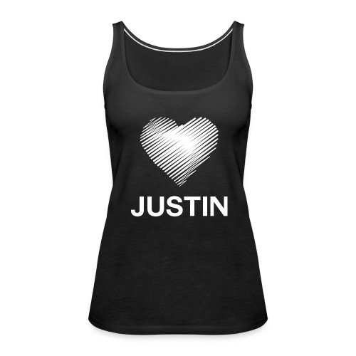 I love Justin - Women's Premium Tank Top