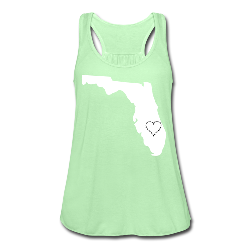 State of florida with heart  - Women's Flowy Tank Top by Bella