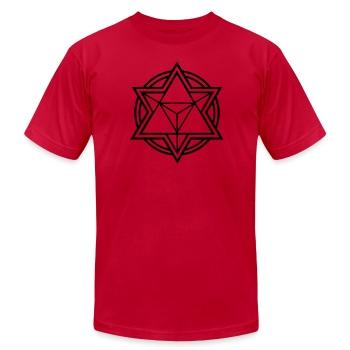 Mens Standard Merkaba Music Logo Tee - Men's Fine Jersey T-Shirt