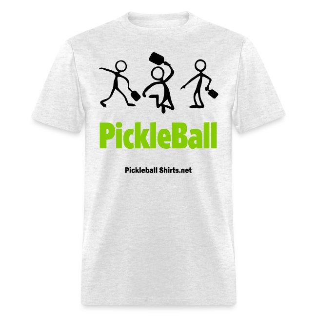 Pickleball Friends Mens Tshirt 2 Color Artwork Front | Men's T-Shirt