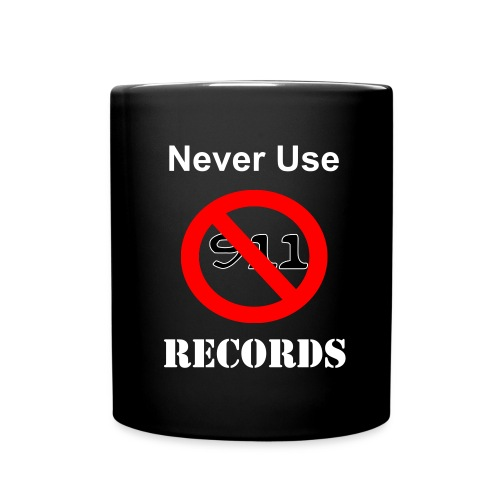 tasse never use 911 records official - Full Color Mug