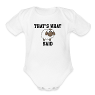 Baby Bodysuits ~ Baby Short Sleeve One Piece ~ That's What Sheep Said Baby One Piece